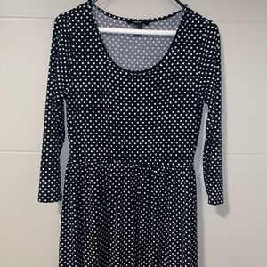 Forever 21 black and white polka dot dress